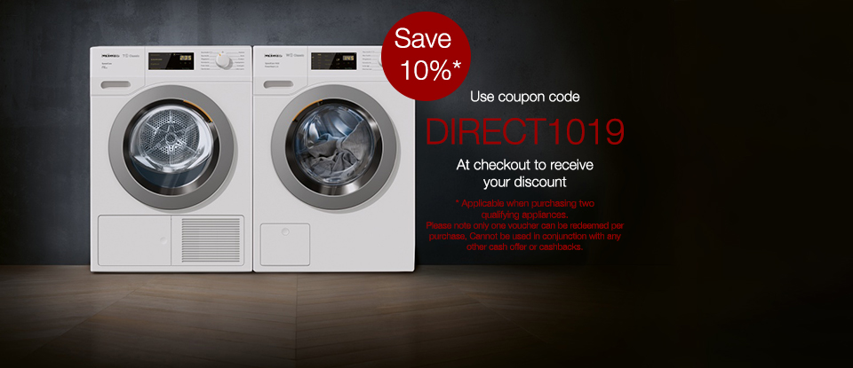 Save 10% when purchasing two Miele appliances